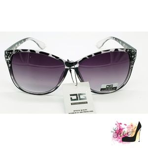 CG Light Gray Animal Print Sunglasses